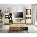 Kolekcja Elwiners I - komplet mebli loftowych ława szafka RTV pod telewizor witryna do pokoju salonu