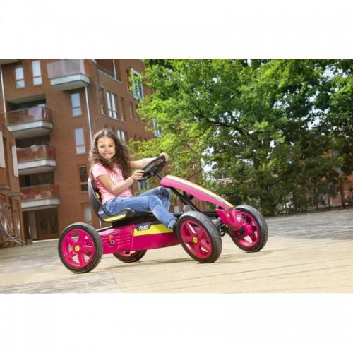 BERG Gokart Rally Pearl Różowy Pompowane koła 4-12 lat do 60 kg
