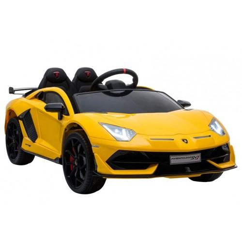 Auto na Akumulator Lambo Lamborghini Aventador Żółty