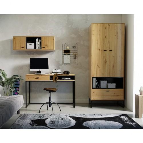 Kolekcja Elwiners III - komplet mebli loftowych biurko szafa szafka do pokoju młodzieżowego