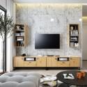 Kolekcja Elwiners IX - komplet mebli loftowych szafka RTV po telewizor meblościanka