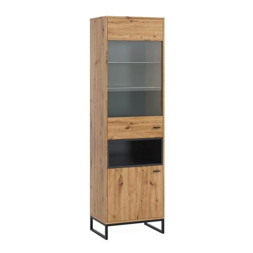 witryna stojąca 60 Elwiners EL13 - styl loftowy industrialny do sypialni do pokoju młodzieżowego do salonu do gabinetu