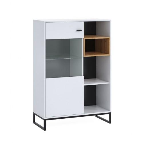 witryna stojąca 90 Elwiners EL14 - styl loftowy industrialny do sypialni do pokoju młodzieżowego do salonu do gabinetu