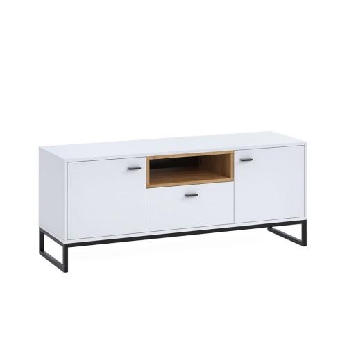 szafka RTV Elwiners EL7 - styl loftowy industrialny do sypialni do pokoju młodzieżowego do salonu