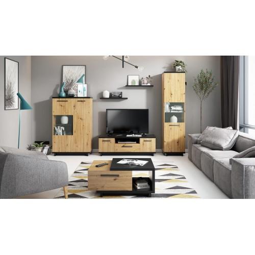 Kolekcja Home-Chic I - zestaw mebli do salonu szafka RTV półka witryna komoda stolik