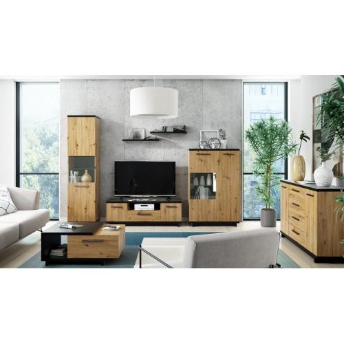 Kolekcja Home-Chic III - zestaw mebli do salonu szafka RTV półki witryna komoda ława