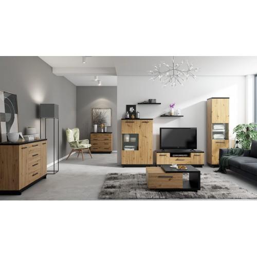 Kolekcja Home-Chic IV - zestaw mebli do salonu szafka RTV półki witryny komody stolik
