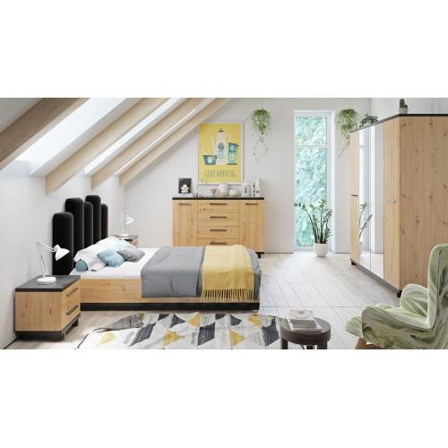 Kolekcja Home-Chic V - zestaw mebli do sypialni łóżko komoda szafa szafka nocna