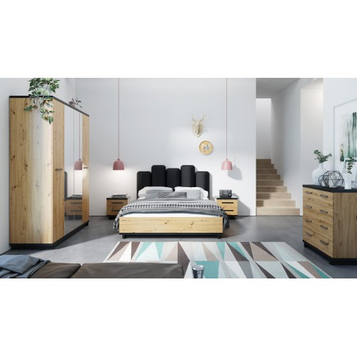 Kolekcja Home-Chic VI - zestaw mebli do sypialni łóżko komoda szafa szafka nocna