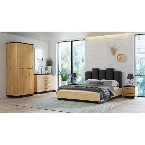 Kolekcja Home-Chic VII - zestaw mebli do sypialni łóżko komoda szafa szafka nocna