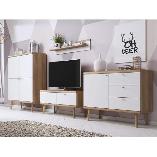 Kolekcja Giappo I- zestaw mebli do salonu szafka RTV półka komoda