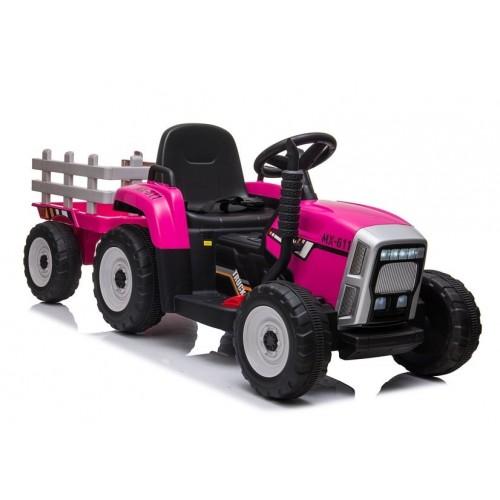 Traktor na Akumulator z Przyczepą XMX611 Różowy