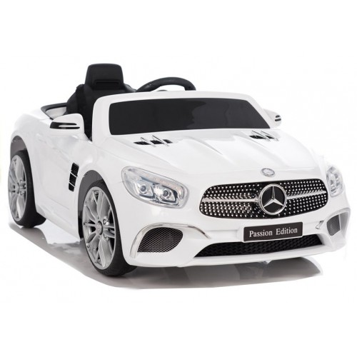 Auto na Akumulator Mercedes SL Biały Skóra Amortyzatory