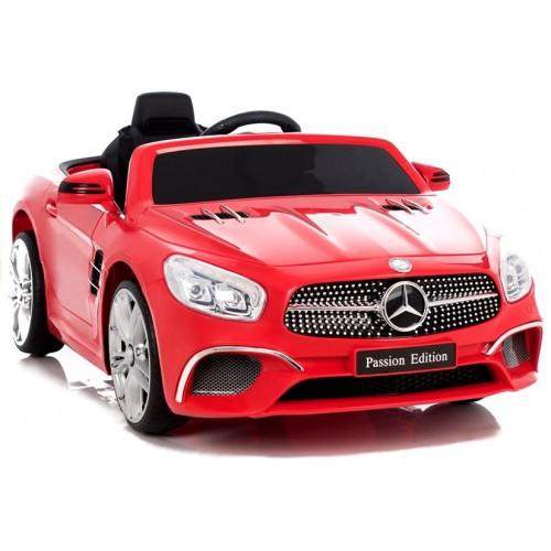 Auto na Akumulator Mercedes SL Czerwony Skóra Amortyzatory