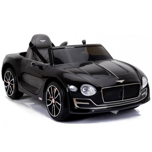 Auto na akumulator Bentley Continental GT, koła EVA, Skóra, Czarny