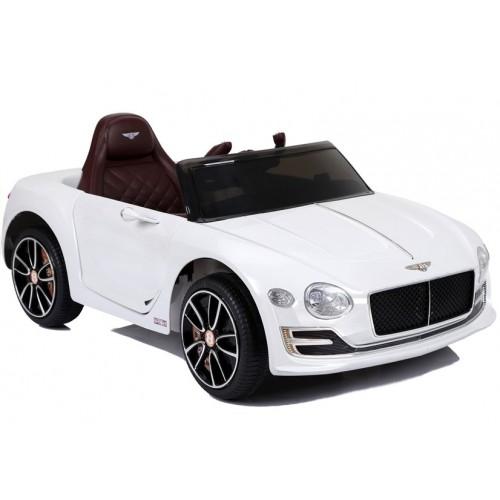 Auto na akumulator Bentley Continental GT, koła EVA, Skóra, biały