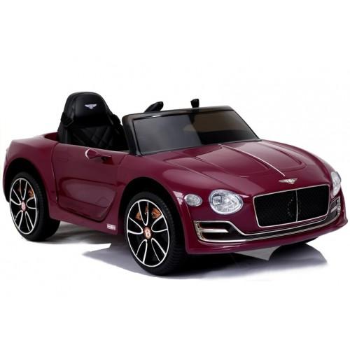 Auto na Akumulator Bentley Jasny Czerwony Lakierowany USB, światła LED, koła EVA