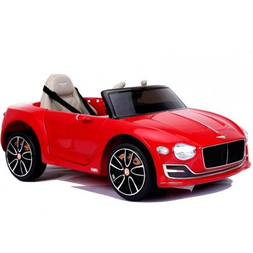 Auto na Akumulator Bentley Czerwony Lakierowany USB, światła LED, koła EVA