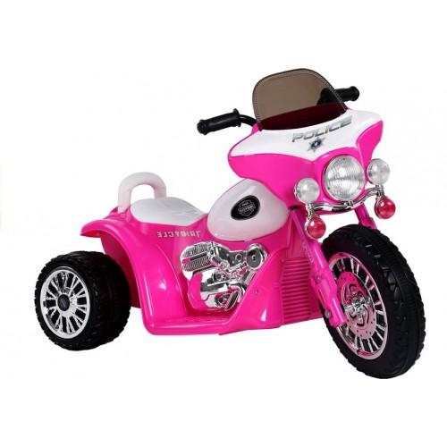 Motor na Akumulator E-Trike Ciemnoróżowy