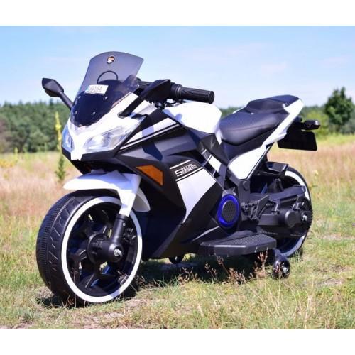 MEGA MOTOR ŚCIGACZ STRONG 2 EXCLUSIVE, ŚWIECĄCE KOŁA, GAZ W MANETCE, HAMULEC/DLS07