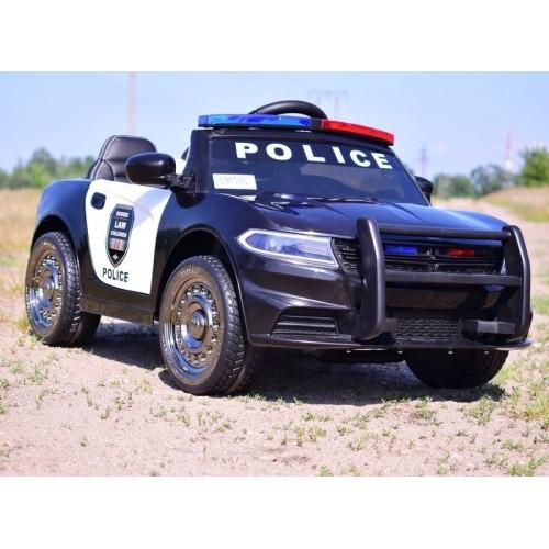 AUTO POLICJA, DŹWIĘKI, MIĘKKIE KOŁA EVA, MIĘKKIE SIEDZENIE/JC666