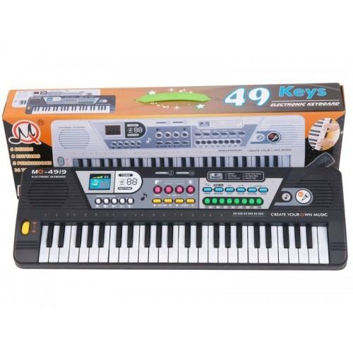 Keyboard MQ-4919 Organki, 49 Klawiszy, Mikrofon