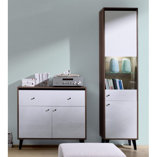 Kolekcja Fotyn Gloss VI - zestaw mebli do salonu witryna komoda