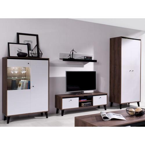Kolekcja Fotyn Gloss VIII - zestaw mebli do salonu szafa witryna szafka półka RTV
