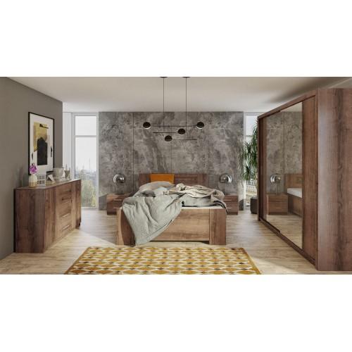 Kolekcja Aretas III - zestaw mebli do sypialni komoda łóżko szafka nocna szafa