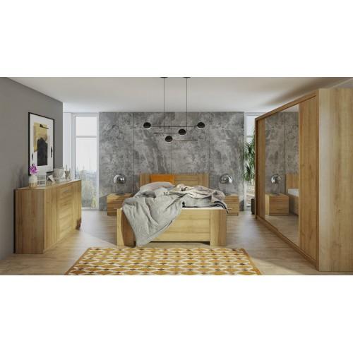 Kolekcja Aretas IV - zestaw mebli do sypialni komoda łóżko szafka nocna szafa