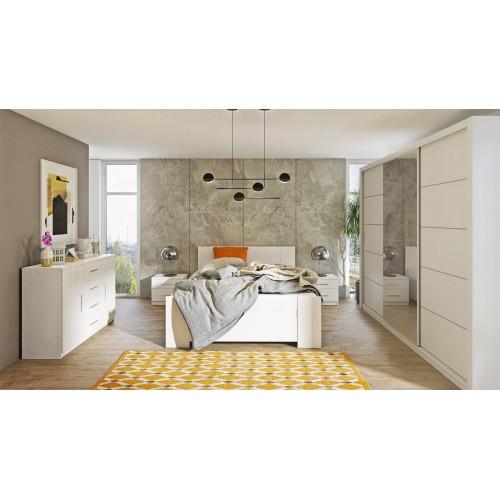 Kolekcja Aretas V - zestaw mebli do sypialni komoda łóżko szafka nocna szafa