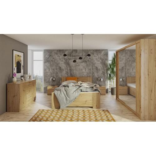 Kolekcja Aretas VI - zestaw mebli do sypialni komoda łóżko szafka nocna szafa