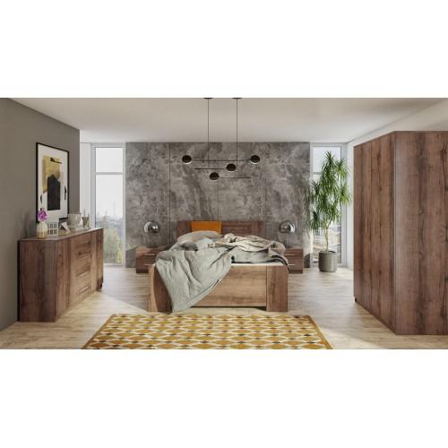 Kolekcja Aretas VII - zestaw mebli do sypialni komoda łóżko szafka nocna szafa