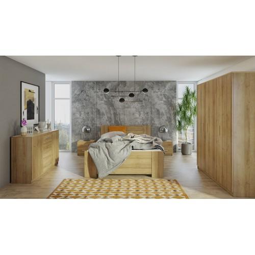 Kolekcja Aretas VIII - zestaw mebli do sypialni komoda łóżko szafka nocna szafa
