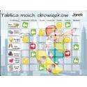 Tablica Magnetyczna, Mata Motywacyjna Dla Dzieci Chłopiec Na Deskorolce