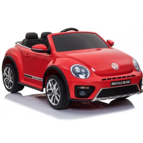 Auto Na Akumulator Volkswagen Beetle Dune Czerwony LED + 2,4G