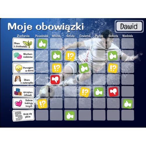 Tablica Magnetyczna, Mata Motywacyjna Dla Dzieci Football