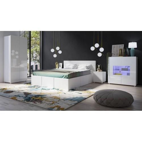 Kolekcja Capricornio XVIII - zestaw mebli do sypialni łóżko komoda szafa szafka nocna