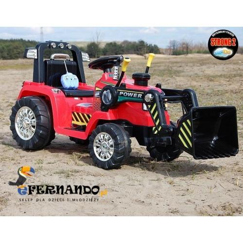 Pojazd Koparka Traktor Czerwona
