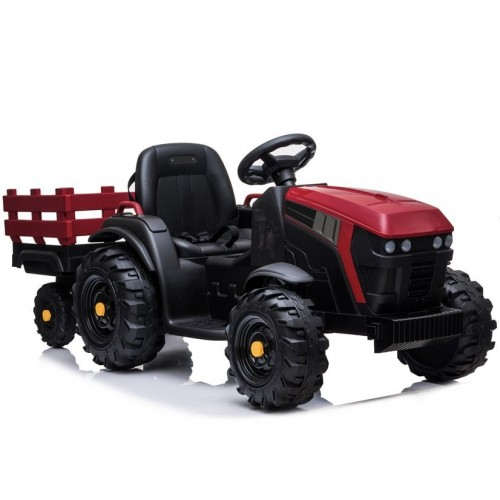 Traktor z Przyczepą na akumulator BDM0925 Czerwony