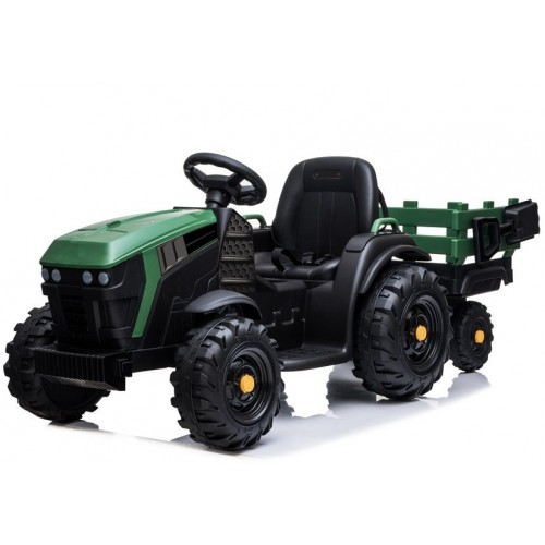 Traktor z Przyczepą na akumulator BDM0925 Zielony Wojskowy