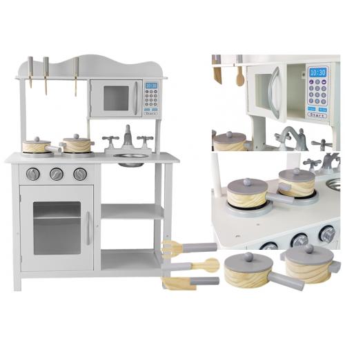 Kuchnia Drewniana Bella Dla Dziecka Akcesoria Biała