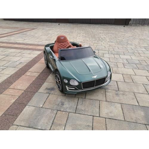 Auto na Akumulator Bentley Zielony Lakierowany USB, światła LED, koła EVA