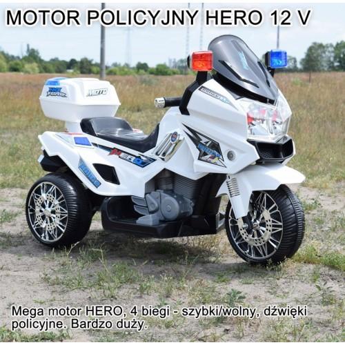 MEGA WIELKI MOTOR HERO z dźwiękami NOWOŚĆ / 8815 12 V