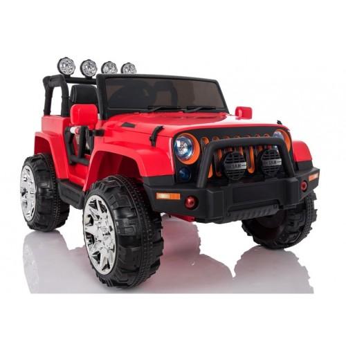 Auto na Akumulator Jeep 4x4 Wrangler Sahara NOWY Czerwony