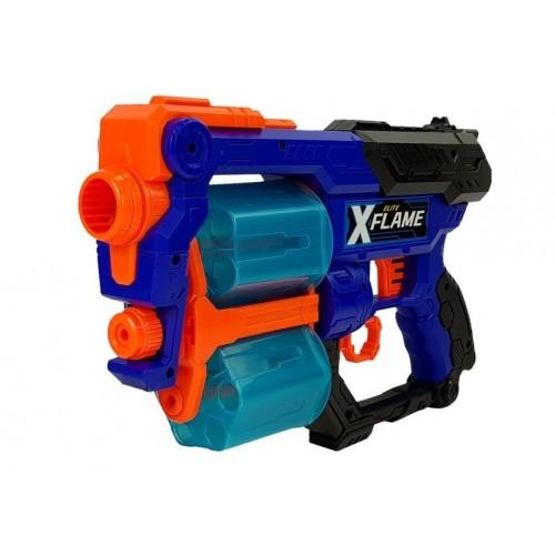 Karabin Pistolet Na Piankowe Strzałki Puszki Zasięg 18 m Niebieski