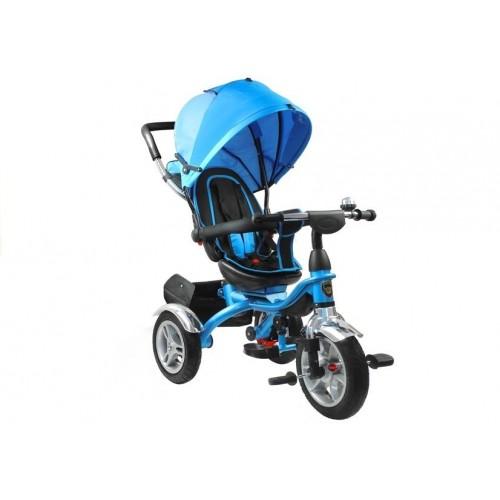 Rower Trójkołowy PRO500 Niebieski - CZARNA RAMA