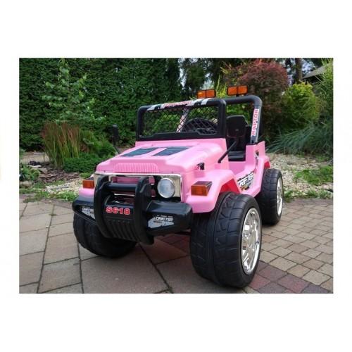Auto na akumulator Jeep Raptor koła EVA Różowy